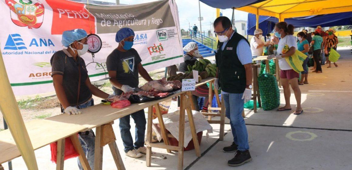 Covid-19: productores agropecuarios participaron en mercado itinerante de Tumbes