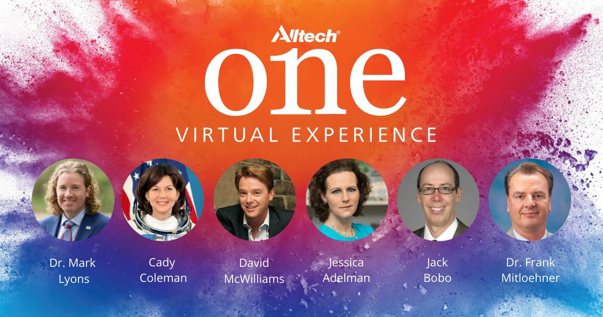 La Experiencia Virtual de Alltech ONE ofrecerá conferencias bajo demanda a cargo de destacados expertos de la industria agropecuaria y más, desde el lunes 18 de mayo de 2020.
