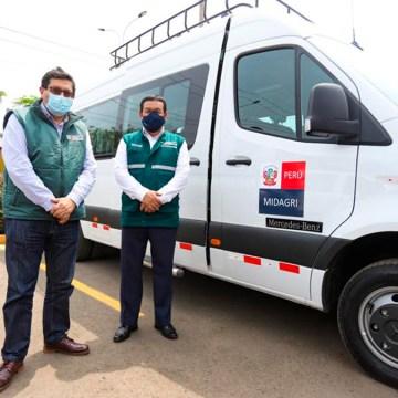 MIDAGRI fortalece acciones sanitarias en 9 regiones con moderna flota vehicular